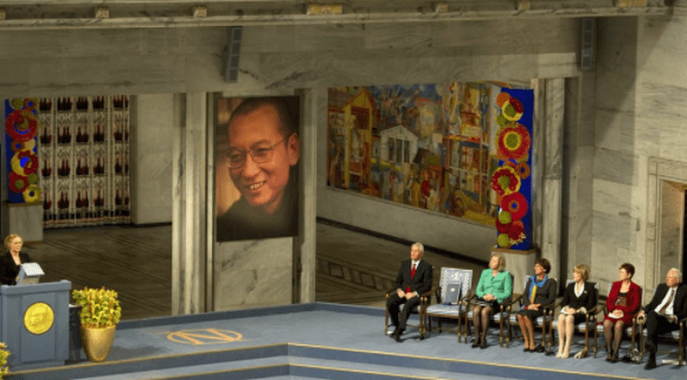 Liu Xiaobo's absent chair at the Nobel prize ceremony