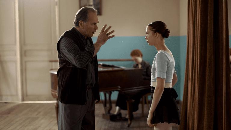 Bojinski (Aleksey Guskov) and the grown Polina (Anastasia Shevtsova) | © Oscilloscope