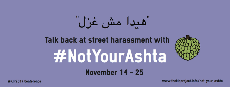 """#notyourashta which means don't call me """"ashta"""" meaning a type of sweets in the street"""