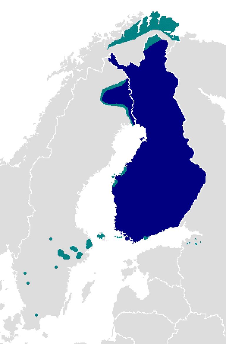 Finnish language map