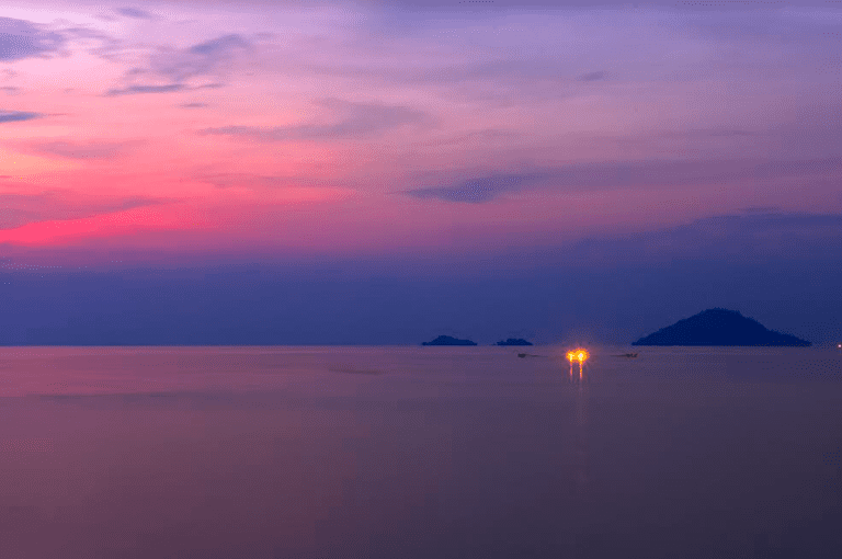 Lake Kivu at Sunset