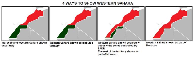 Maps of Western Sahara