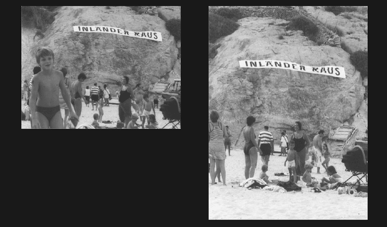 Santiago Sierra, Banner Suspended in Front of a Cove, 2001