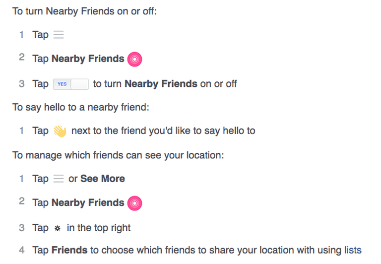 How to disable Nearby Friends | © Facebook