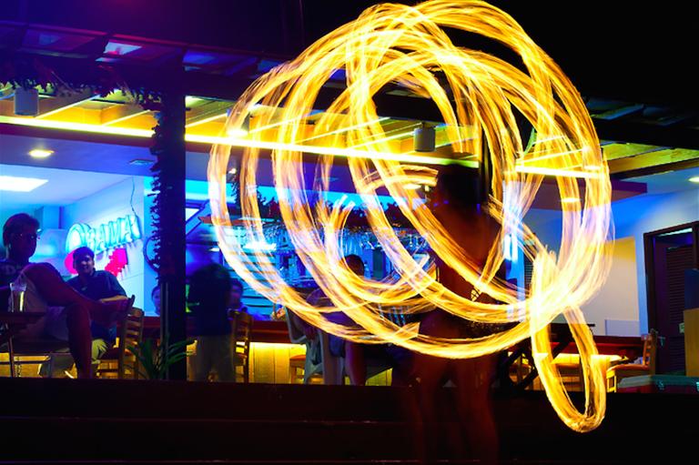 Fire dancing in Boracay
