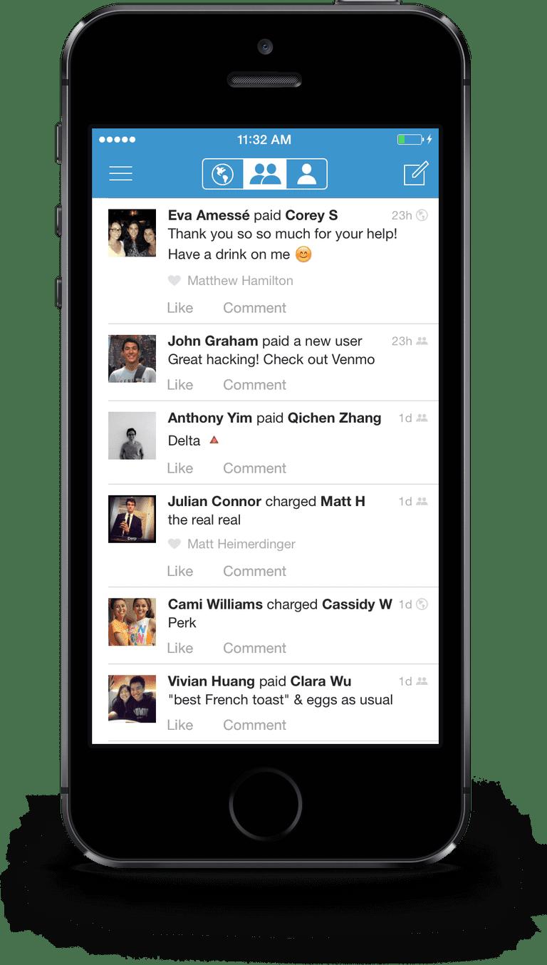 The Venmo app