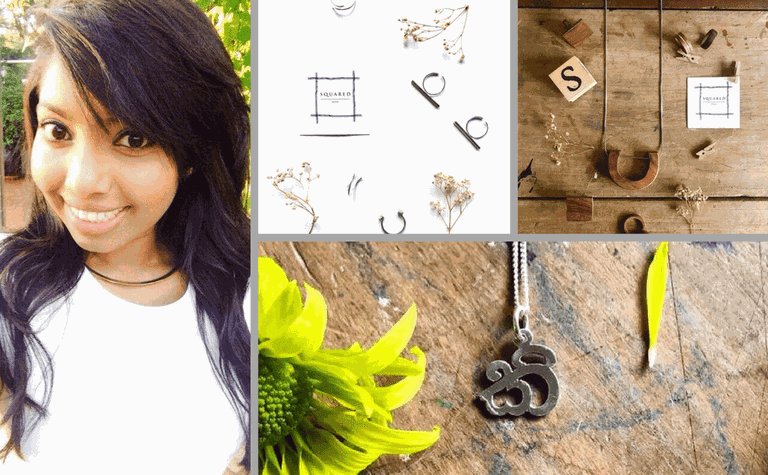Aeshini and her minimalistic designs