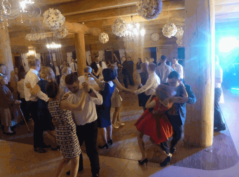 Dance with as many people as you can