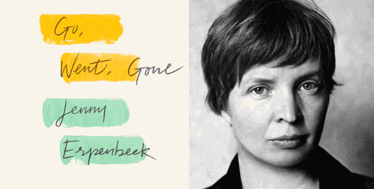 Cover of 'Go, West, Gone,' and photo of Jenny Erpenbeck courtesy of New Directions