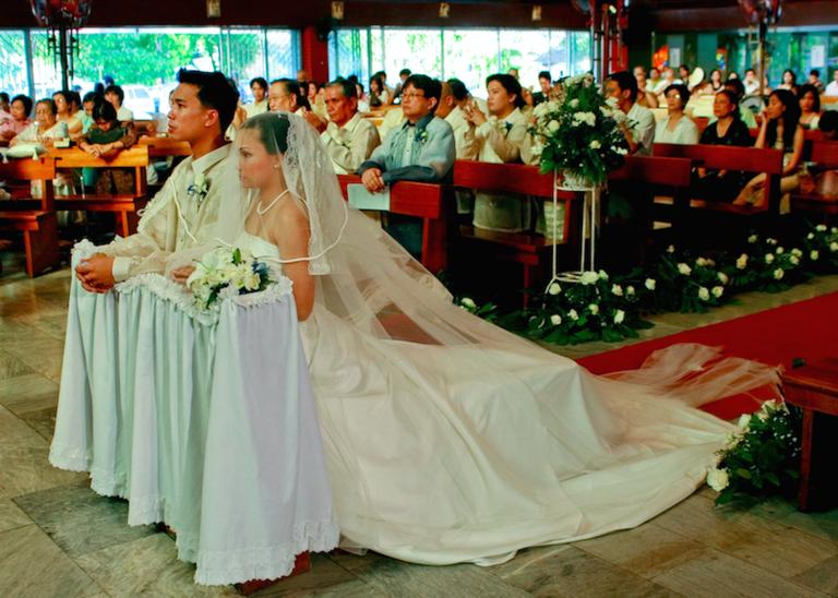 Church ceremony at Filipino wedding
