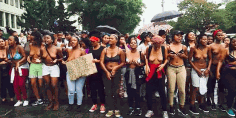 Topless Protests at Rhodes University