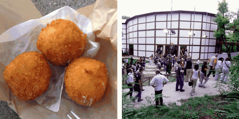 Street food | Gary Stevens/Flickr, Globe Theatre | globetheatreroma/Flickr