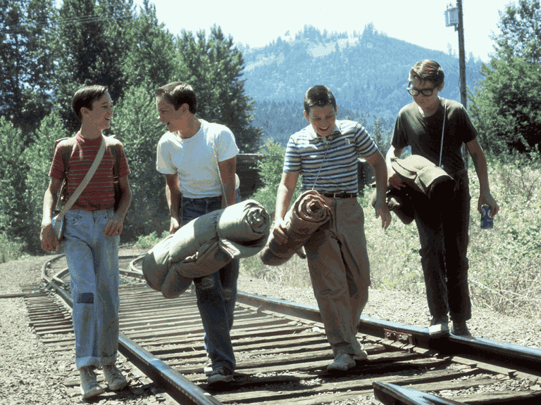 Wil Wheaton, River Phoenix, Jerry O'Connell, and Corey Feldman in 'Stand by Me' | © Columbia Pictures