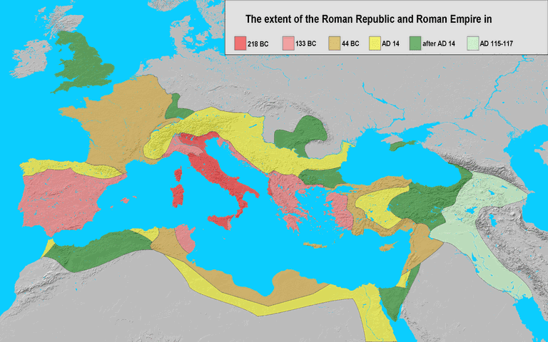 Rome's vast empire certainly had something to do with the rise of the nickname the Eternal City | © Varana/WikiCommons