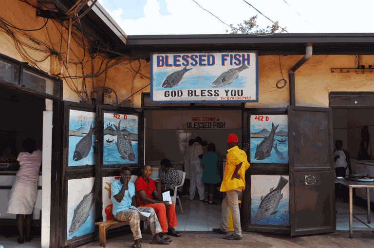 Fish salesmen at Kimironko Market