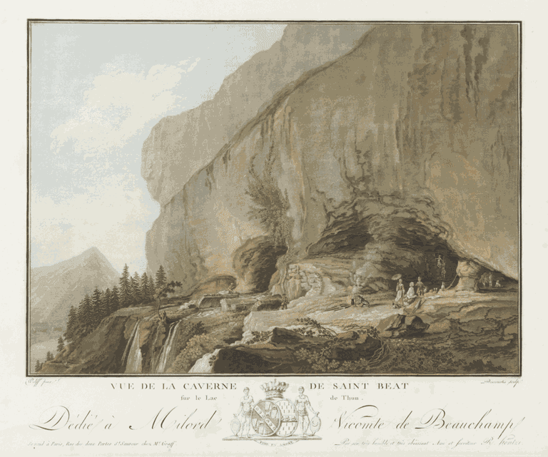 The St Beatus Caves in 1785, post-dragon