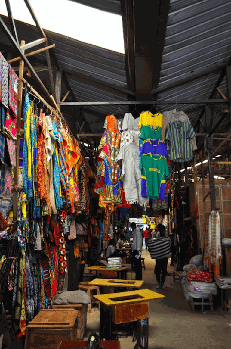 Narrow corridors of Kimironko Market