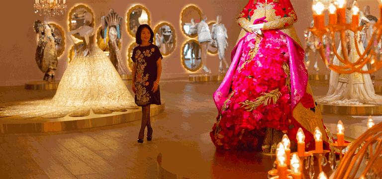 © Guo Pei walks through her exhibition at SCAD