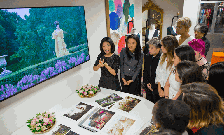 Guo Pei lectures about haute couture to SCAD students