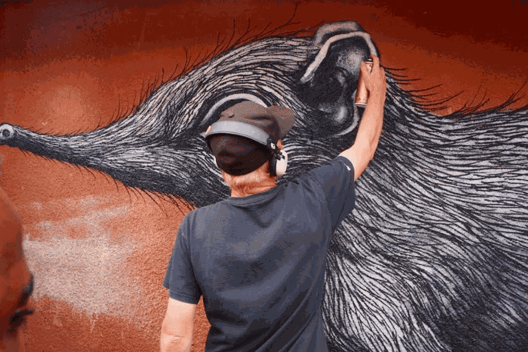 ROA paints the Elephant Shrew