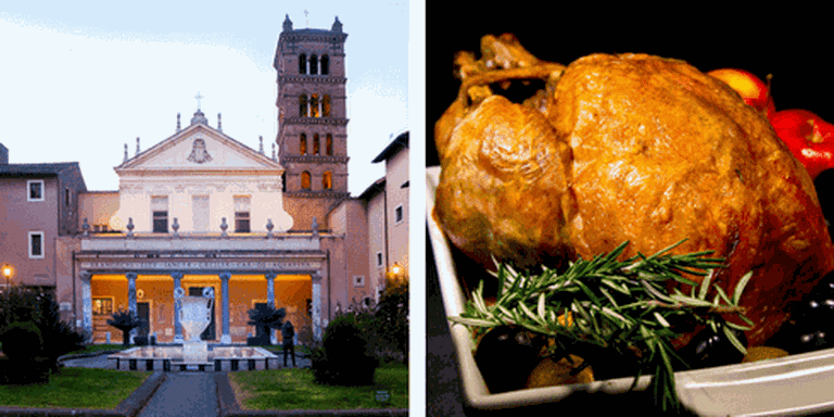 Santa Cecilia in Trastevere Church | © Jean-François Gornet /Flickr, Thanksgiving turkey | © Ruocaled/Flickr