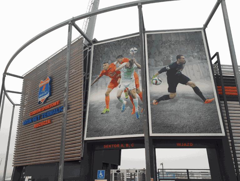 Nieciecza stadium Jonny Blair Northern Irishman in Poland