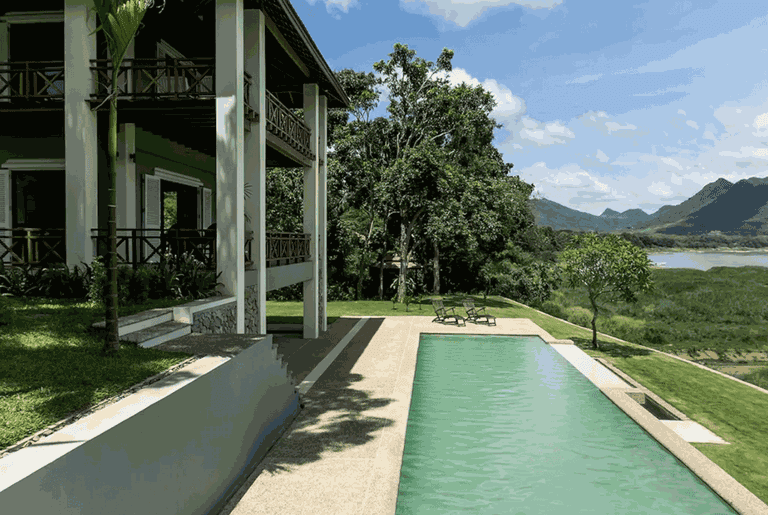 Hous with Pool On The Mekong | permission from image owner granted