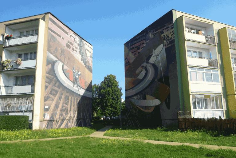 Wall murals of Zaspa
