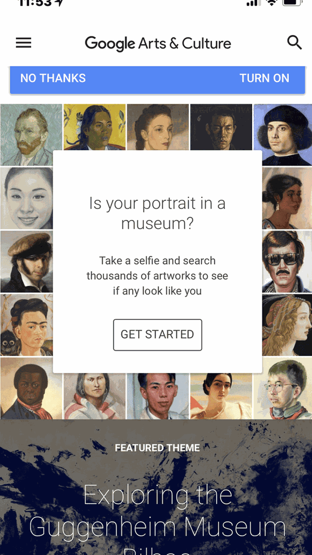 Google Arts & Culture mobile app| Courtesy of Google