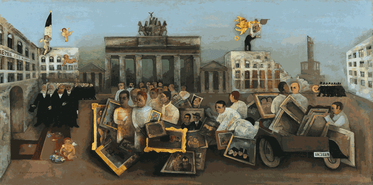 The Folly Square by Felix Nussbaum