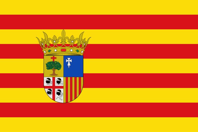 Flag of Aragón, Spain