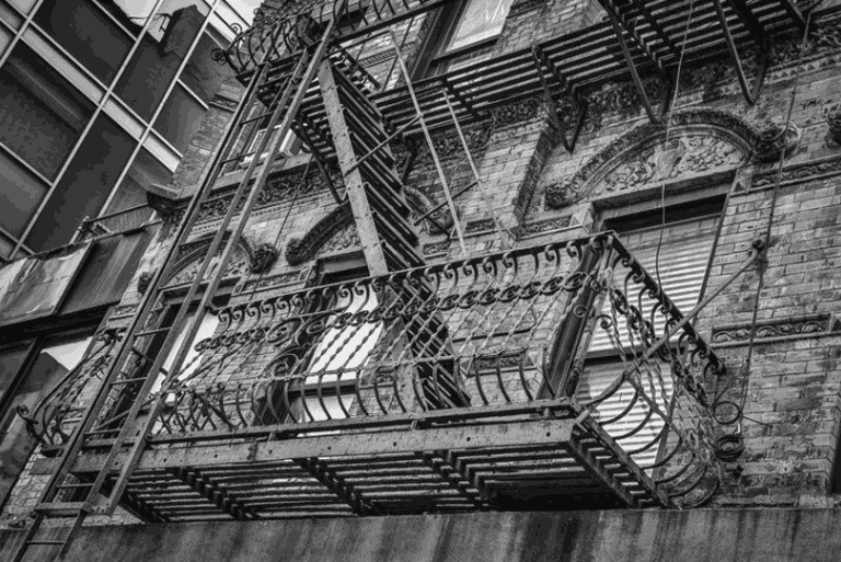 "Fire escape on the Lower East Side | <a href=""http://www.bobestremeraphotography.com/new-york-city/lower-east-side/"" target=""_blank"" rel=""noopener"">© Bob Estremera</a>"