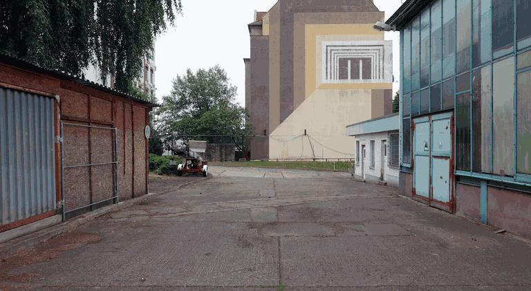 Hinterhof in Lichtenberg, Berlin 2017