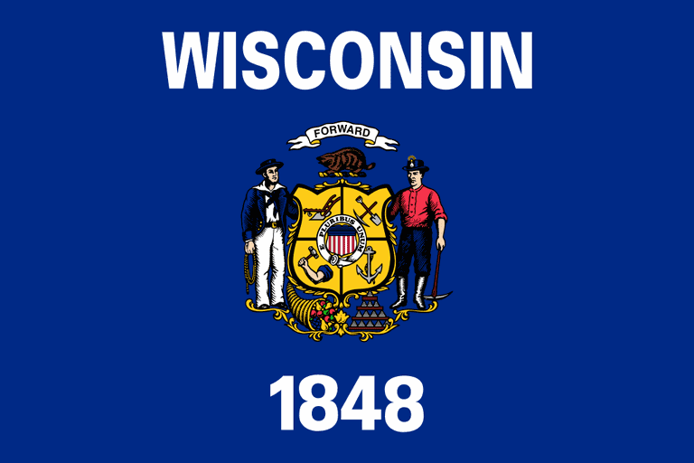 Flag of Wisconsin | © Fry1989/WikiCommons