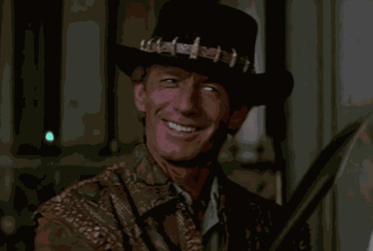 Paul Hogan in Crocodile Dundee © 20th Century Fox