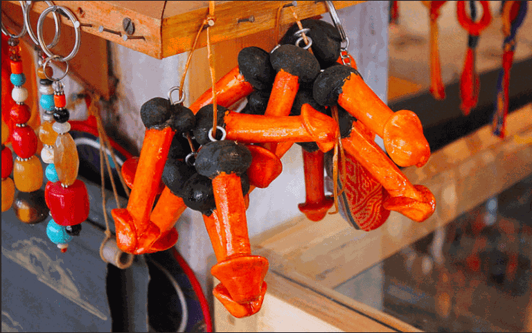 phallic souvenirs, punakha, bhutan