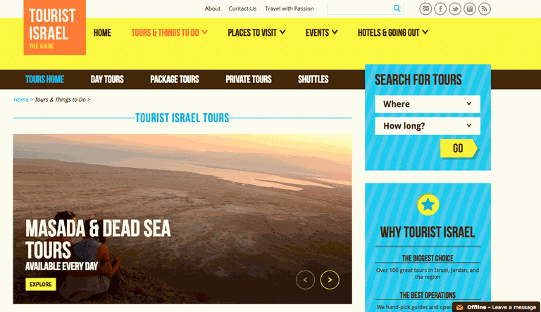 Tourist Israel | Website 2