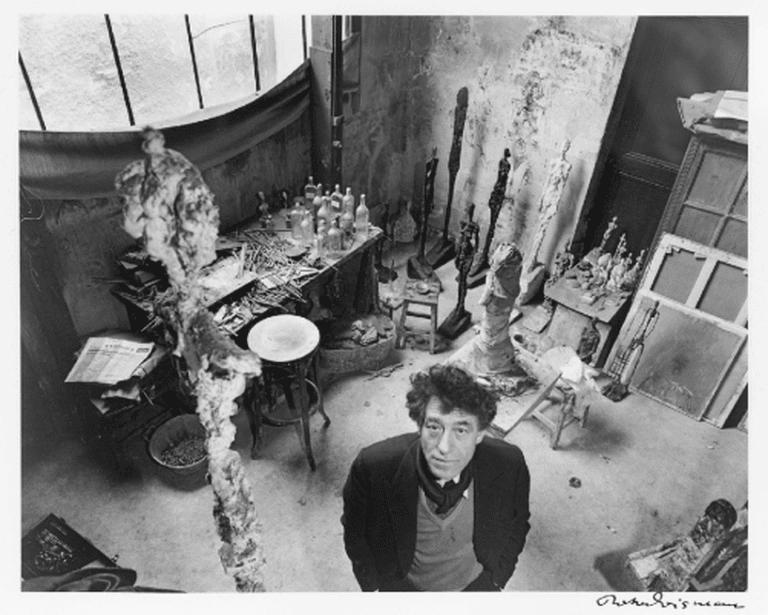 Giacometti in his Studio