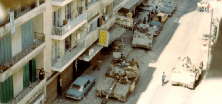 The Israeli invasion of Beirut, 1982