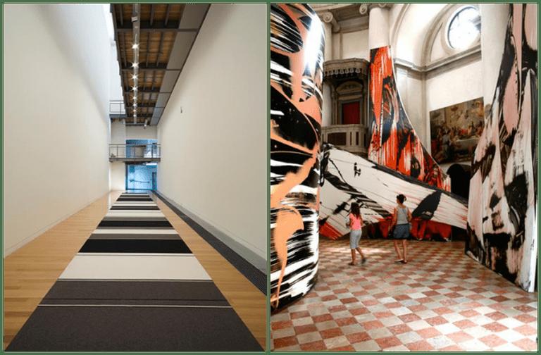 Adam Art Gallery_Peter Robinson, Cuts and Junctures, 2013 and Adam Art Gallery_Judy Millar, Giraffe-Bottle-Gun, 2009