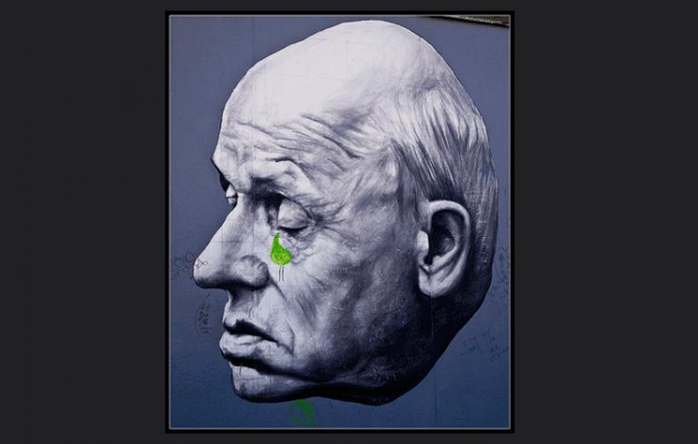 Dmitri Vrubel's painting of Andrei Sakharov. © Philip Milne/Flickr