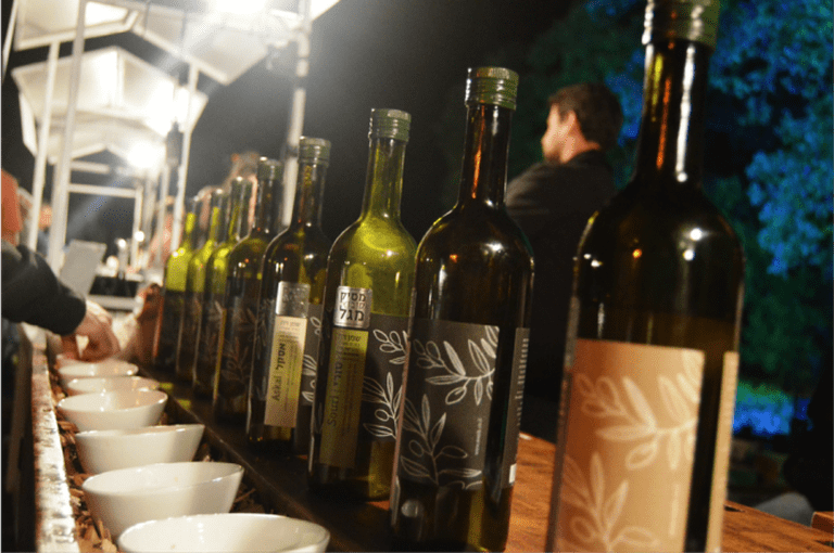 Eight (!) varieties of olive oils from a local producer, courtesy of Yael Tamar