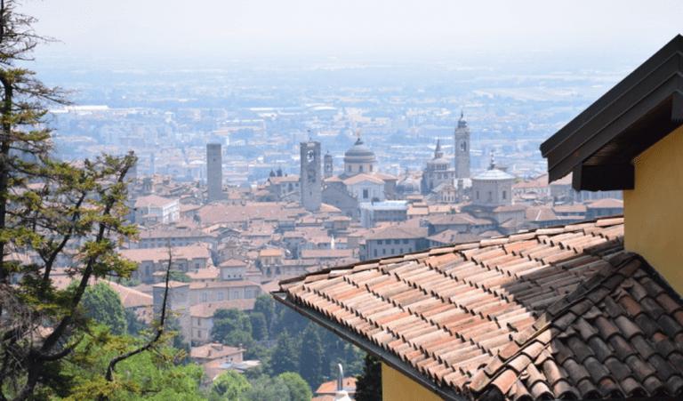 Bergamo Citti Alta from above