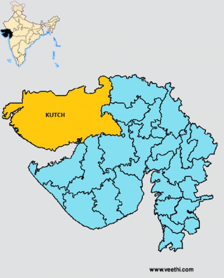 Kutch District Map | © 2015 veethi.com