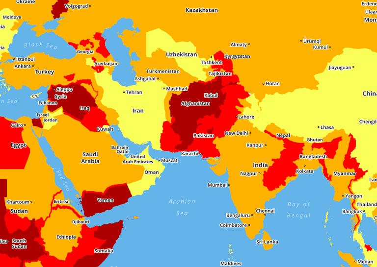 This Map Reveals The World S Most And Least Dangerous