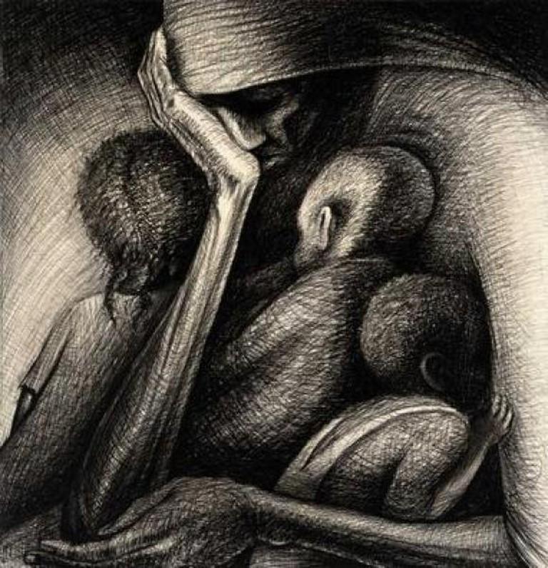 John Thomas Biggers, The Cradle, 1950. Museum of Fine Arts Houston