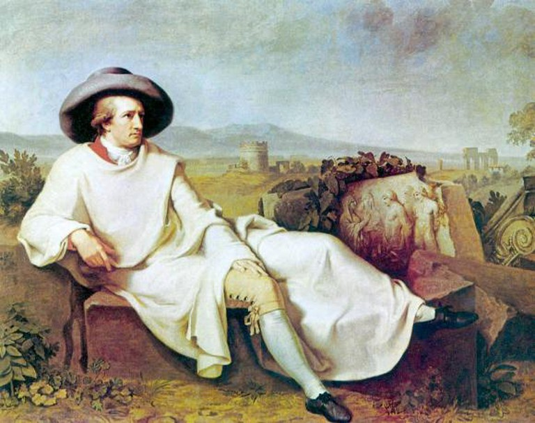 Goethe in Rome (Tischbein, oil on canvas, 1787)