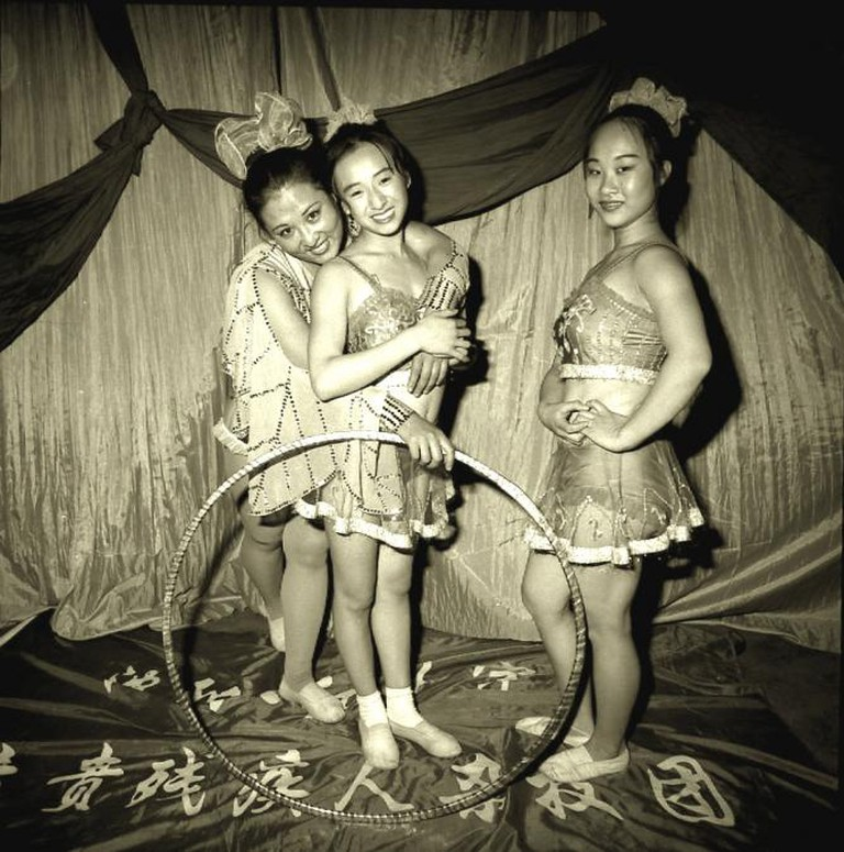 Three Deaf Mute Performers, Shenyang, Liaoning Province, 1998