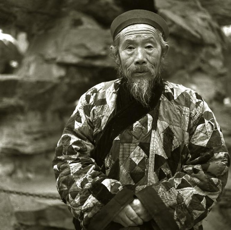 A Monk A Taoist Monk Wearing Patchwork Clothes, Beijing, 1994