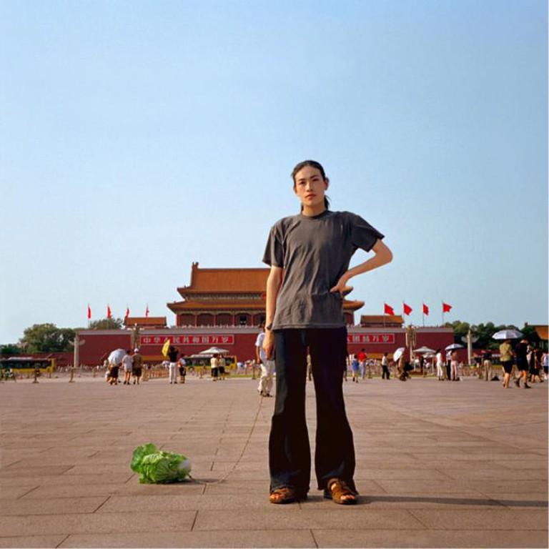 Han Bing, 'Walking the Cabbage in Tiananmen', 2000.